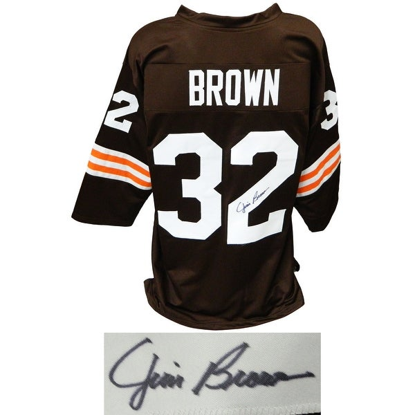 Shop Jim Brown Brown Throwback Custom Football Jersey ...