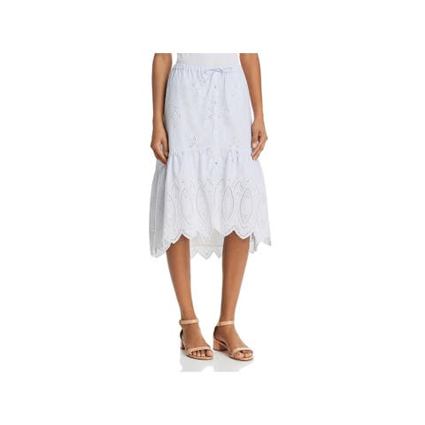 Joie Womens A-Line Skirt Eyelet Knee-Length - XXS