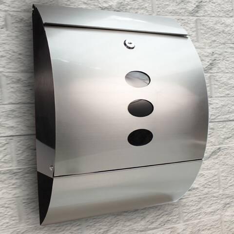 Medium Capacity Stainless Steel Mailbox Wall-Mount