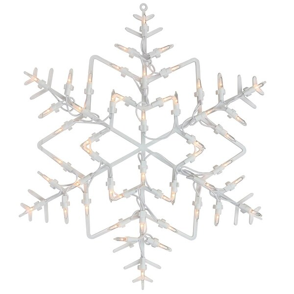 """15"""" Lighted Snowflake Christmas Window Silhouette Decoration (Pack of 4)"""