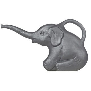 Living Accents 63182 Elephant Watering Can, 2 Quart, Gray