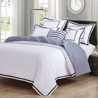 HC Collection Hotel Design Embroidery 3 Piece Duvet Cover Set