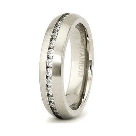 5mm Titanium CZ Eternity Band