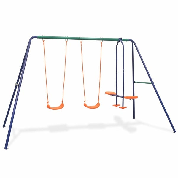 vidaXL Swing Set with 4 Seats Orange. Opens flyout.