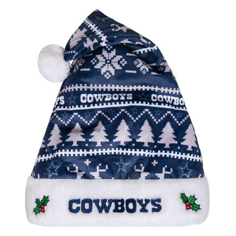 Dallas Cowboys Adult Santa Hat, Blue