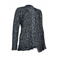 Style & Co. Women's Open Front Eyelash Cardigan Sweater - deep black combo
