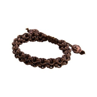 Links Women's Brown Two Row Bracelet in Copper Oxide Plate - CHOCOLATE