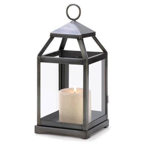 Rustic Silver Candle Lantern