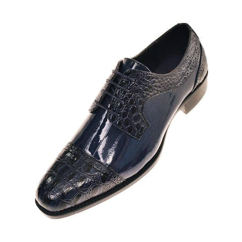 Bolano Mens Exotic Oxford Dress Shoes