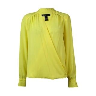 INC International Concepts Women's Surplice Hi-Lo Shirt - 2