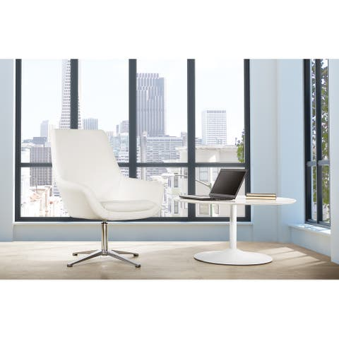 Swivel Office Chair with Aluminum Base