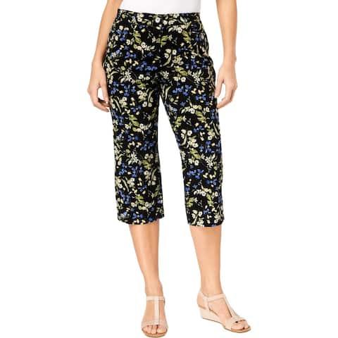 Karen Scott Womens Capri Pants Floral Low Rise