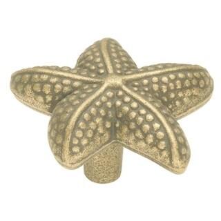 Hickory Hardware PA0111 South Seas 1-1/2 Inch Long Starfish Designer Cabinet Knob