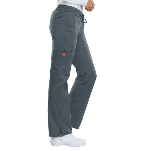 96677f12f31 Shop Dickies Gray Women's Medium M Low Rise Straight Leg Scrub Pants - Free  Shipping On Orders Over $45 - Overstock - 27287124