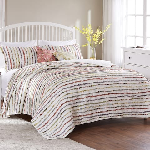 Greenland Home Fashions Bella Ruffle Quilt Set with Decorative Pillows