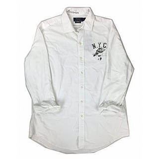 Polo Ralph Lauren NEW White Mens Size Medium M Button Down Shirt