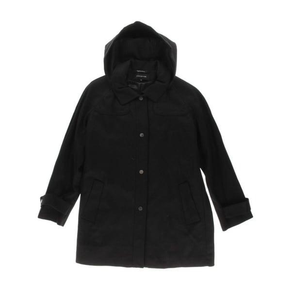 Jones New York Womens Plus Coat Wool Snap Front