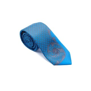 Gianni Versace Mens Diamond Grey Swirl Pattern 100% Silk Medusa Ties