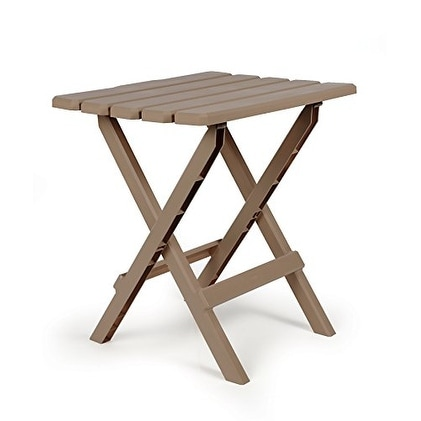 Camco 51887 Large Quick Folding Adirondack Side Table - Taupe