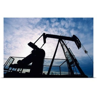 Poster Print entitled Silhouette of oil derrick
