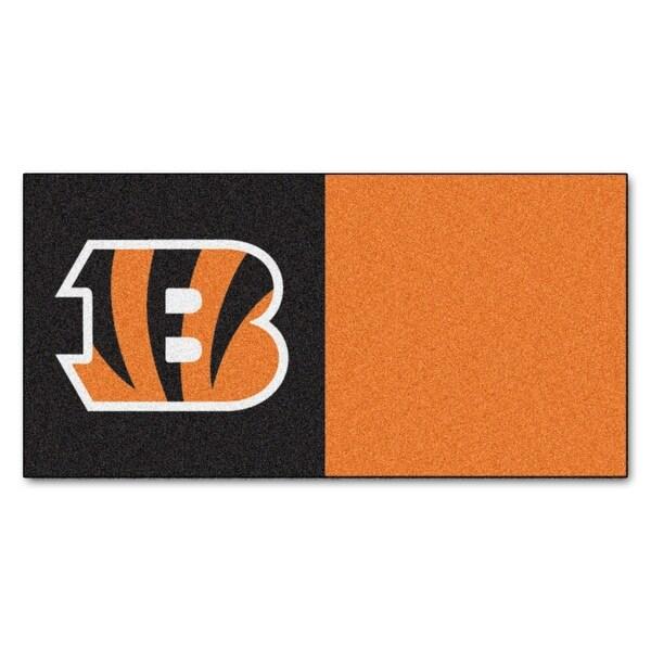 Nfl Cincinnati Bengals Team Carpet Tile Flooring Squares 20 Pc Set
