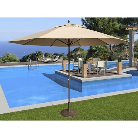 Tropishade 11' Aluminum patio umbrella with Beige Olefin Cover