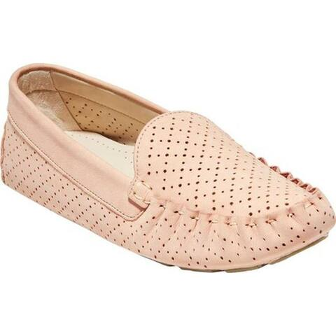 Cole Haan Women's Evelyn Driver Mahogany Rose Perf/Leather