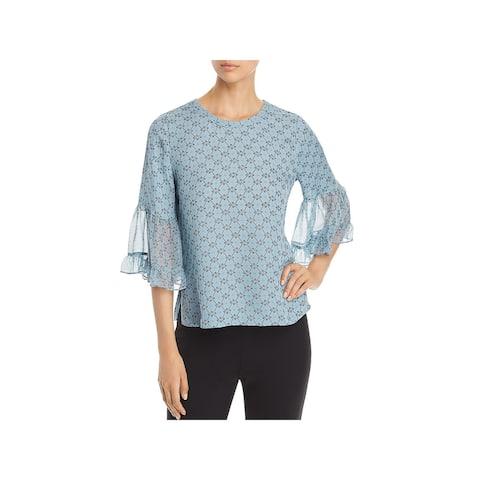 Kobi Halperin Womens Nea Blouse Silk Bell Sleeves
