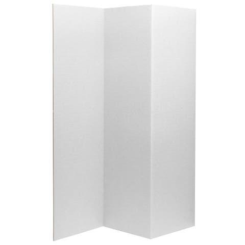 6 ft. Tall White Cardboard Room Divider