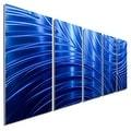 Statements2000 Blue Abstract Modern Metal Wall Art Panels by Jon Allen - Blue Synchronicity - Thumbnail 0