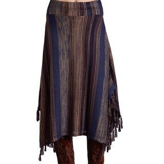 Stetson Western Skirt Womens Striped Blue Brown