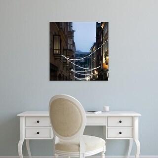 Easy Art Prints Keri Bevan's 'Lights in Soho' Premium Canvas Art