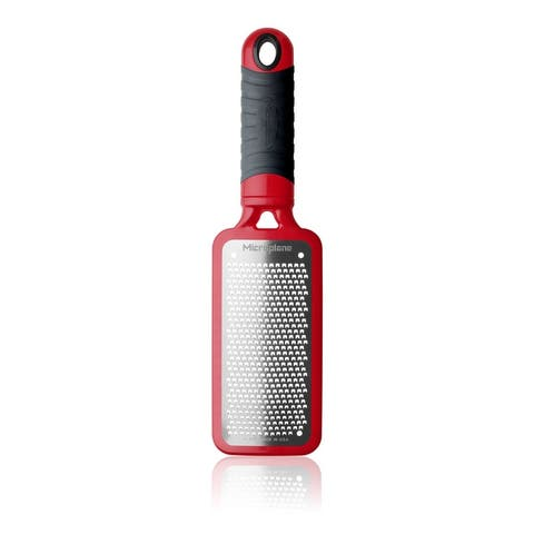 Microplane 44102 Home Series Fine Grater, 18/8 Stainless Steel, Red