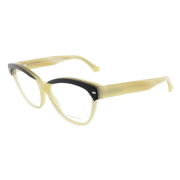 Balenciaga BA5010/V 05A Black Yellow Horn Cat Eye prescription-eyewear-frames