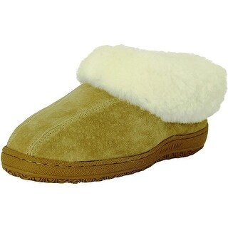 Old Friend Slippers Womens Sheepskin Fleece Juliet Chestnut 441144