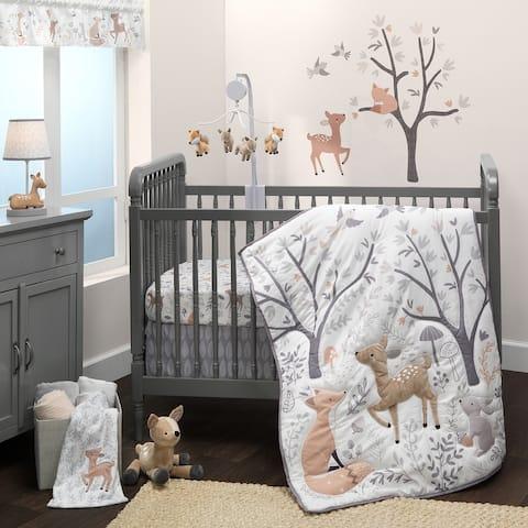 Bedtime Originals Deer Park Woodland 3-Piece Nursery Baby Crib Bedding Set - Gray