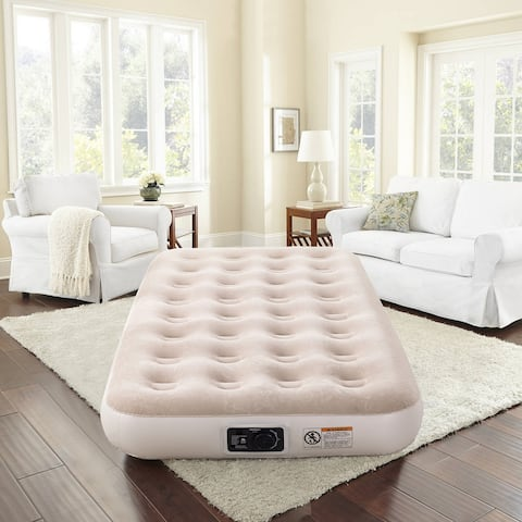 """New Sega Home 9"""" Air Bed with Built-In Pump"""