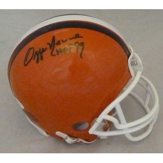 Ozzie Newsome Autographed Cleveland Browns Mini Helmet HOF BAS