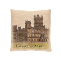 "18"" Downton Abbey British Highclere Castle Decorative Square Throw Pillow"