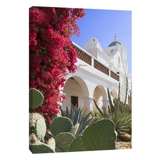 """PTM Images 9-105380  PTM Canvas Collection 10"""" x 8"""" - """"Ca Missions 10"""" Giclee Buildings and Landmarks Art Print on Canvas"""