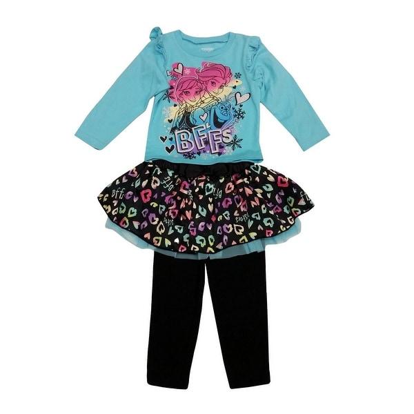 59e23928c1d4 Shop Little Girls Turquoise Frozen Bff Heart Tutu Pants Toddler ...