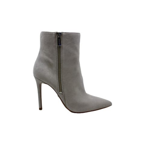 Michael Michael Kors Women's Shoes Keke Bootie Leather Pointed Toe Ankle Fash...