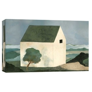 """PTM Images 9-101777  PTM Canvas Collection 8"""" x 10"""" - """"House By the Sea"""" Giclee Rural Art Print on Canvas"""