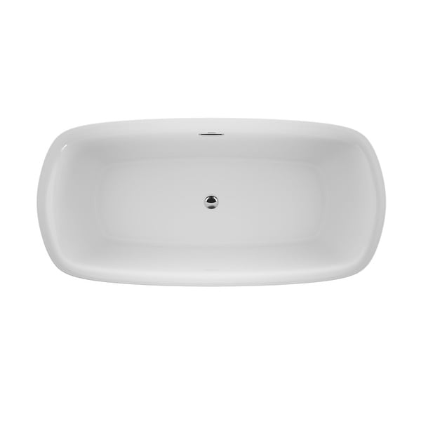 """Jacuzzi DEF6732BCXXXX Delicato 67"""" Free Standing Acrylic Soaking Tub with Center Drain, Pop-Up Drain Assembly and Overflow"""