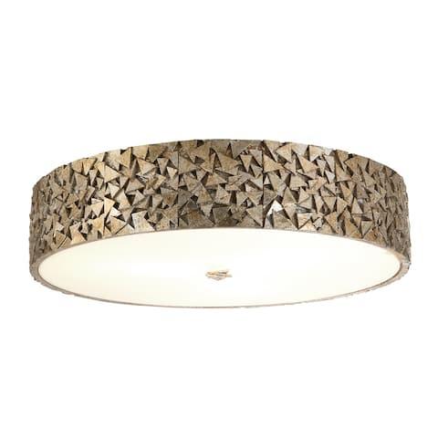 Mosaic 3-Light Flush in Silver