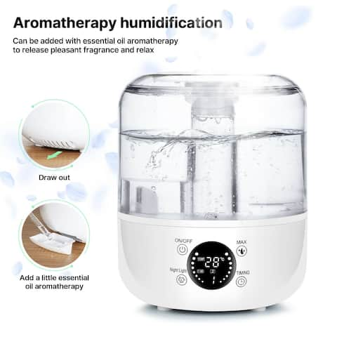 3L Humidifier Aromatherapy Whole House with Remote Control Quiet - M
