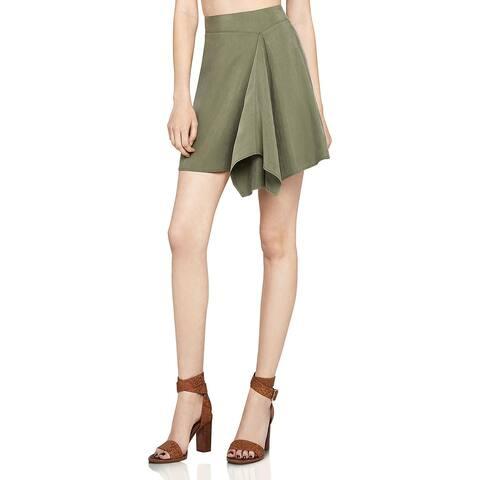 BCBGeneration Womens A-Line Skirt Asymmetric Drapey - 12