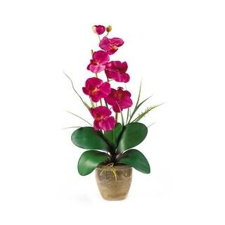 Nearly Natural Single Stem Phalaenopsis Orchid Silk Flower Arrangement