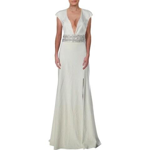 Xscape Womens Evening Dress Open-Back Cap Sleeves - 6