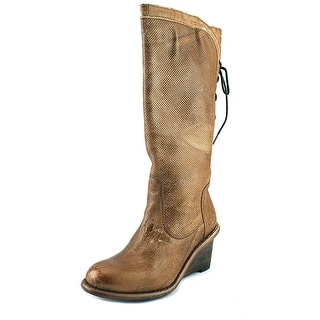 Bed Stu Express Women  Round Toe Leather Tan Boot